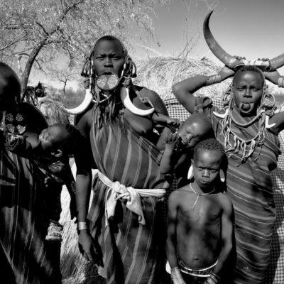 Plemiona w dolinie Omo w Etiopii. Mursi, Hamerowie, Bana